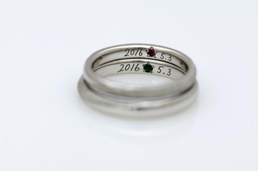 結婚指輪-誕生石.JPG